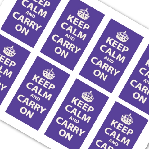 Violet printable mini keep calm