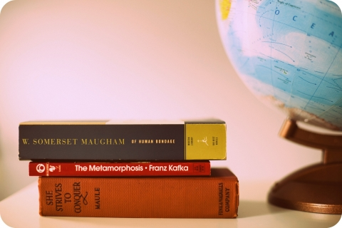 Books and Globe