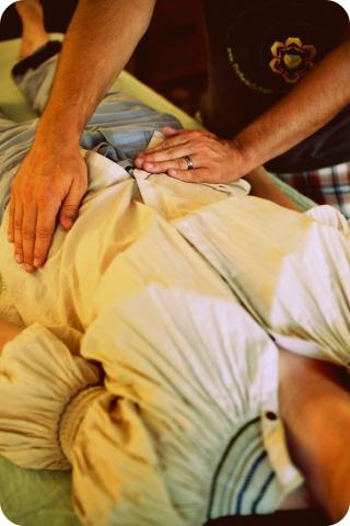 Reiki Hands on Hips